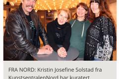Kurator og kunstnere, Nordlysfestivalutstillingen Views 4 the North 2017, Kulturhuset Omtale i avisen Nordlys