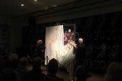 Avdukingen av verket Heksebrenning og foredrag av historiker Rune Blix Hagen på Tromsø Museum i regi KsN