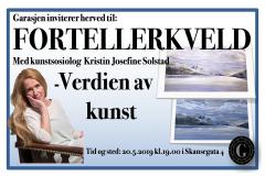 Garasjen Kulturarrangement, «Verdien av Kunst» samtale med KsN Solstad, mai 2019, utsatt til november 2019