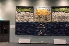 Utsmykkingsoppdrag for Sommarøy Hotell kuratert av KsN Solstad Tekstilverk quilting 500x260 av Britt Inger Berntsen 2018 2019