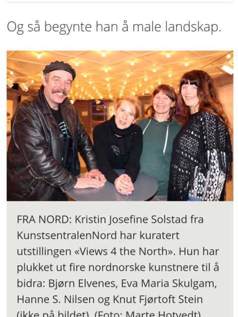 Omtale i avisen Nordlys av Views 4 the north